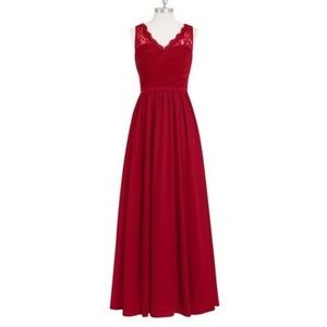 Azazie Burgundy Beverly Bridesmaid Dress - Size A8